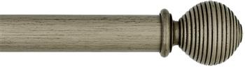 Byron & Byron Barnwood 35mm, 45mm & 55mm Wood Curtain Pole Ives, Barnwood Grey
