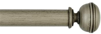 Byron & Byron Barnwood 35mm, 45mm & 55mm Wood Curtain Pole Lamorna, Barnwood Grey