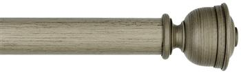 Byron & Byron Barnwood 35mm,45mm & 55mm Wood Curtain Pole Austell, Barnwood Grey