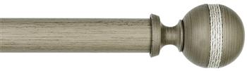 Byron & Byron Barnwood 35mm, 45mm & 55mm Wood Curtain Pole Saltash, Barnwood Grey