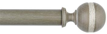 Byron & Byron Barnwood 35mm, 45mm & 55mm Wood Curtain Pole Saltash, Barnwood White
