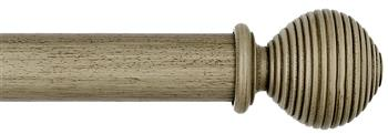 Byron & Byron Barnwood 35mm, 45mm & 55mm Wood Curtain Pole Ives, Barnwood Cream