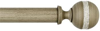 Byron & Byron Barnwood 35mm, 45mm & 55mm Wood Curtain Pole Saltash, Barnwood Cream