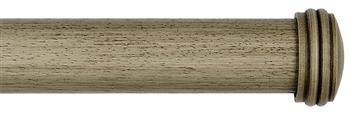 Byron & Byron Barnwood 35mm, 45mm & 55mm Wood Curtain Pole Endcap, Barnwood Cream