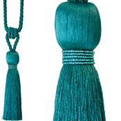 Jones Rope Curtain Tieback Milly, Teal