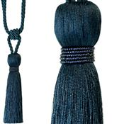 Jones Rope Curtain Tieback Milly, Navy