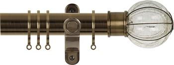 Renaissance Spectrum 35mm Curtain Pole Antique Brass, Pumpkin