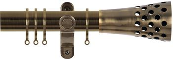 Renaissance Spectrum 35mm Curtain Pole Antique Brass, Trumpet