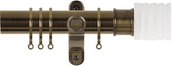 Renaissance Spectrum 35mm Curtain Pole Antique Brass, Acrylic Cube