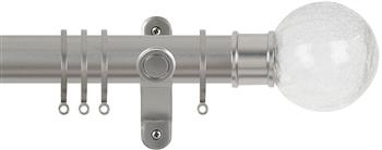 Renaissance Spectrum 35mm Curtain Pole Titanium, Crackled Glass