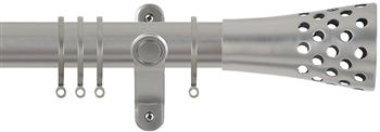 Renaissance Spectrum 35mm Curtain Pole Titanium, Trumpet