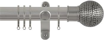 Renaissance Spectrum 35mm Curtain Pole Titanium, Flat Dimple Ball
