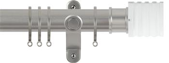 Renaissance Spectrum 35mm Curtain Pole Titanium, Acrylic Cube