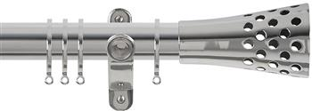 Renaissance Spectrum 35mm Curtain Pole Polished Silver, Trumpet