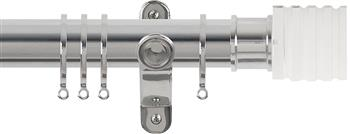 Renaissance Spectrum 35mm Curtain Pole Polished Silver, Acrylic Cube