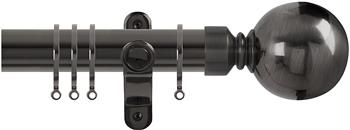 Renaissance Spectrum 35mm Curtain Pole Black Nickel, Plain Ball