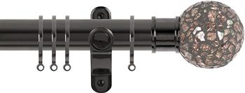 Renaissance Spectrum 35mm Curtain Pole Black Nickel, Rose Mosaic