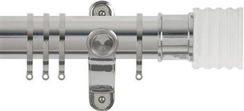 Renaissance Spectrum 50mm Curtain Pole Polished Silver, Acrylic Cube