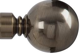 Renaissance Spectrum 50mm Finial Only, Antique Brass, Plain Ball