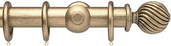 Opus 35mm Wood Curtain Pole Pale Gold, Twisted