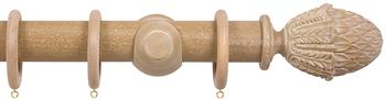 Opus 48mm Wood Curtain Pole Vintage Oak, Pineapple