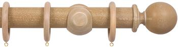 Opus 48mm Wood Curtain Pole Vintage Oak, Ball