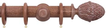 Opus 48mm Wood Curtain Pole Vintage Mahogany, Pineapple