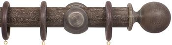Opus 48mm Wood Curtain Pole Vintage Walnut, Ball