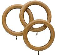 Opus 48mm Wood Curtain Pole Rings