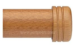 Opus 63mm Wood Curtain Pole Endstop