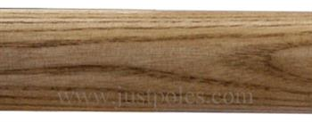 Jones Strand 35mm Wood Curtain Pole Only, Light Oak