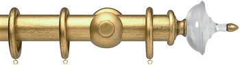Opus Aria 35mm & 48mm Curtain Pole Antique Gold, Acrylic Urn/Gold