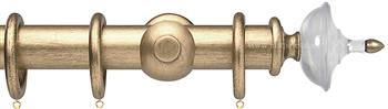 Opus Aria 35mm & 48mm Curtain Pole Pale Gold, Acrylic Urn