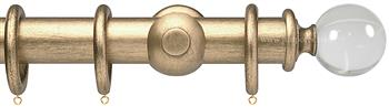 Opus Aria 35mm & 48mm Curtain Pole Pale Gold, Acrylic Ball