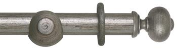 Rolls Museum 35mm, 45mm Antique Silver Curtain Pole, Parham Finial