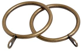 Speedy Pristine 25mm-28mm Curtain Pole Rings, Antique Brass