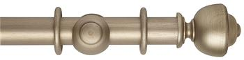 Rolls Museum 35mm, 45mm Satin Oyster Curtain Pole, Asher Finial