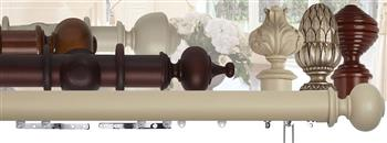 Museum 35mm, 45mm, 55mm Wood Curtain Poles