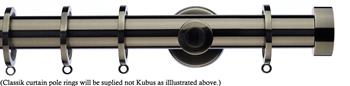 Integra Inspired Allure 35mm Curtain Pole, Cylinder, Brushed Silver, Ronda
