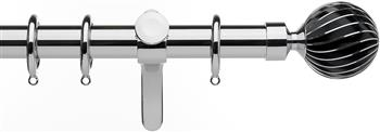 Integra Inspired Allure 35mm Curtain Pole, Curvatura, Chrome, Zara