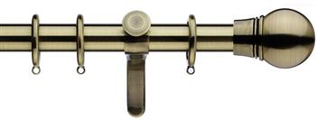 Integra Inspired Allure 35mm Curtain Pole, Curvatura, Burnished Brass, Scepta