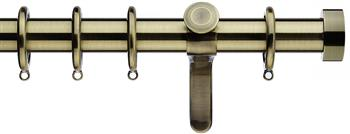 Integra Inspired Allure 35mm Curtain Pole, Curvatura, Burnished Brass, Ronda