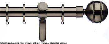 Integra Inspired Allure 35mm Curtain Pole, Curvatura, Brushed Silver, Selina