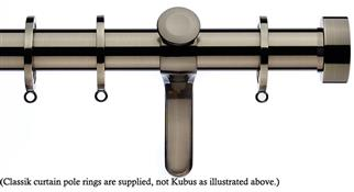 Integra Inspired Allure 35mm Curtain Pole, Curvatura, Brushed Silver, Ronda