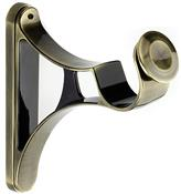 Integra Inspired Allure 35mm Metal Curvatura End Bracket, Burnished Brass
