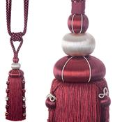 Jones Ensemble Collection Rope Curtain Tieback, Sovereign Garnet