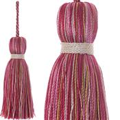 Jones Ensemble Collection Rope Curtain Key Tassel, Peony