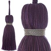 Jones Ensemble Collection Rope Curtain Key Tassel, Grape