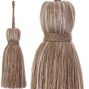 Jones Ensemble Collection Rope Curtain Key Tassel, Almond