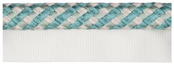 Jones Belezza Trimming Flanged Cord, Turquoise